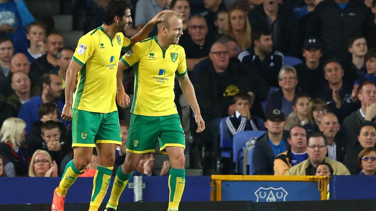 Steven Naismith scored against his former team to boost Norwich.
