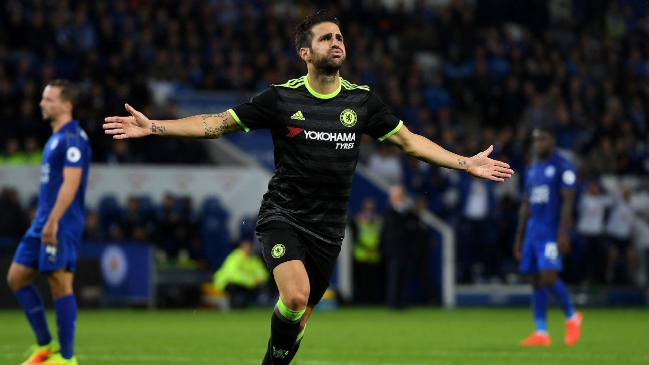Cesc Fabregas waited until extra-time to score twice against Leicester.