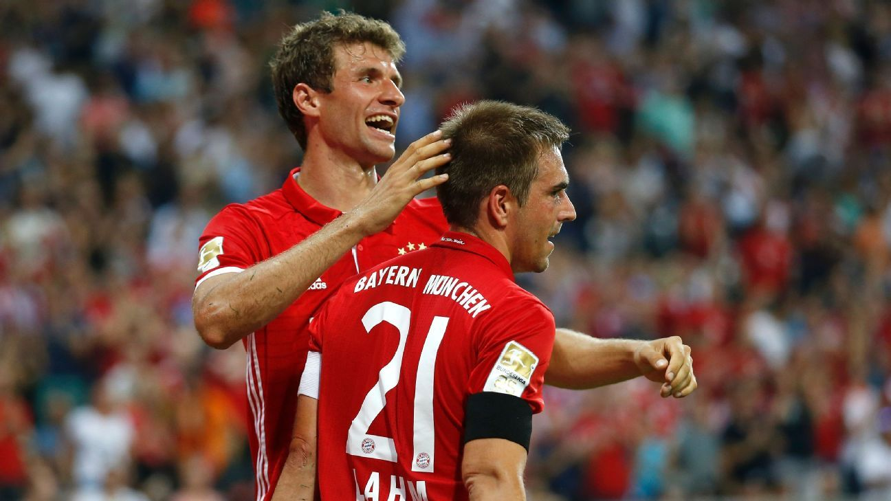 Thomas Muller and Philipp Lahm