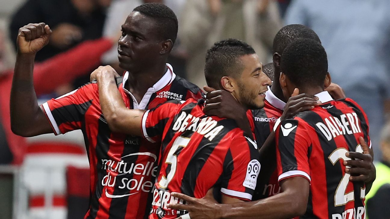 Mario Balotelli has helped Nice reach the top of Ligue 1.