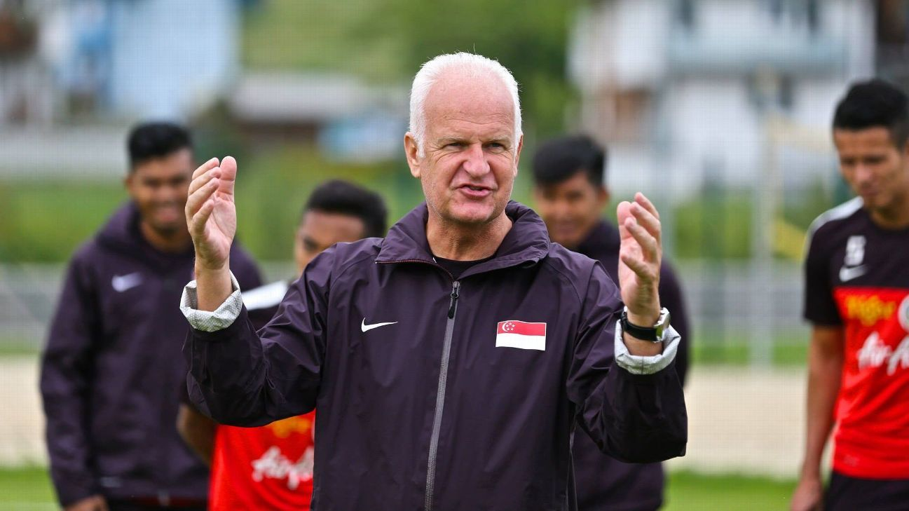 Singapore coach Bernd Stange