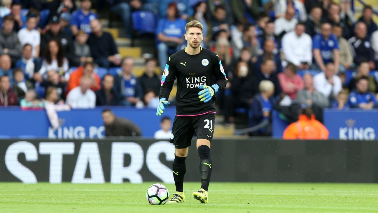Ron-Robert Zieler of Leicester City during the Barclays Premier League match between Leicester City and Burnley at the King Power Stadium on September 17th , 2016 in Leicester, United Kingdom.