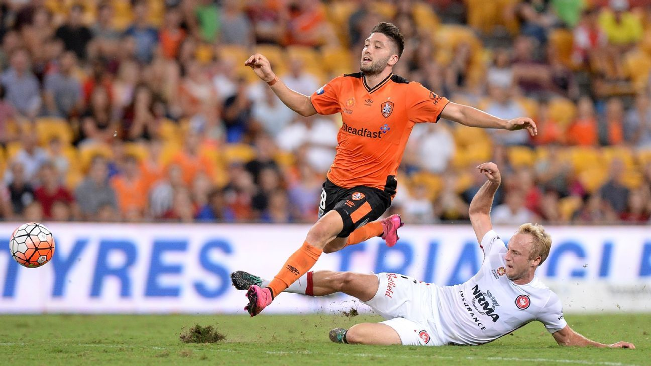 Brisbane Roar forward Brandon Borrello
