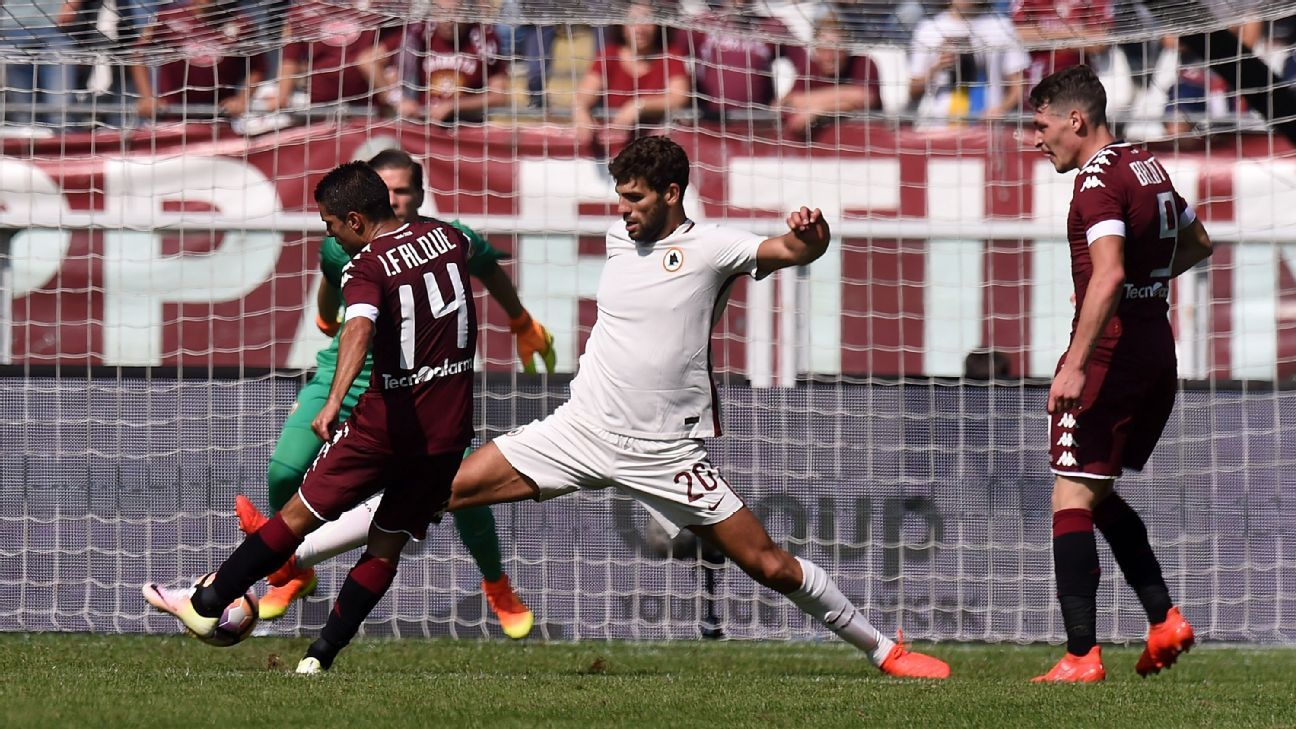 Iago Falque scores his second goal of the afternoon for Torino