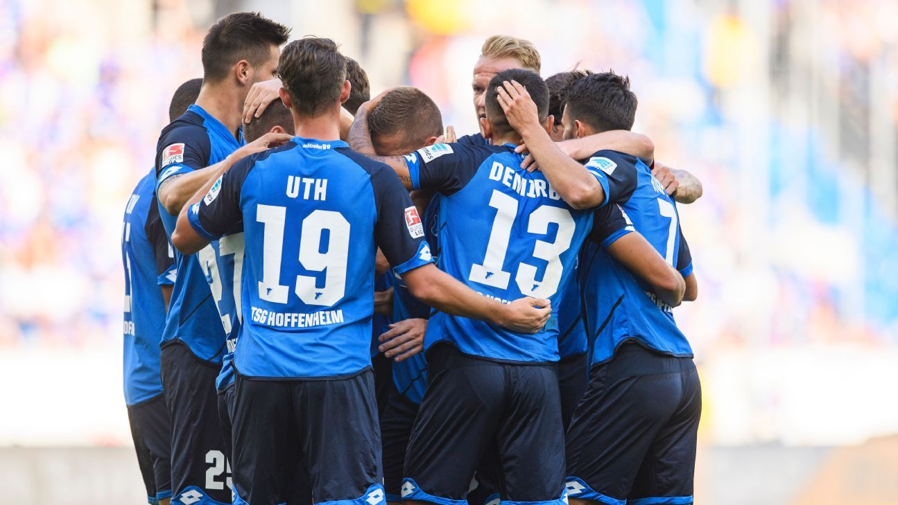 Hoffenheim celebrate Andrej Kramaric's strike.