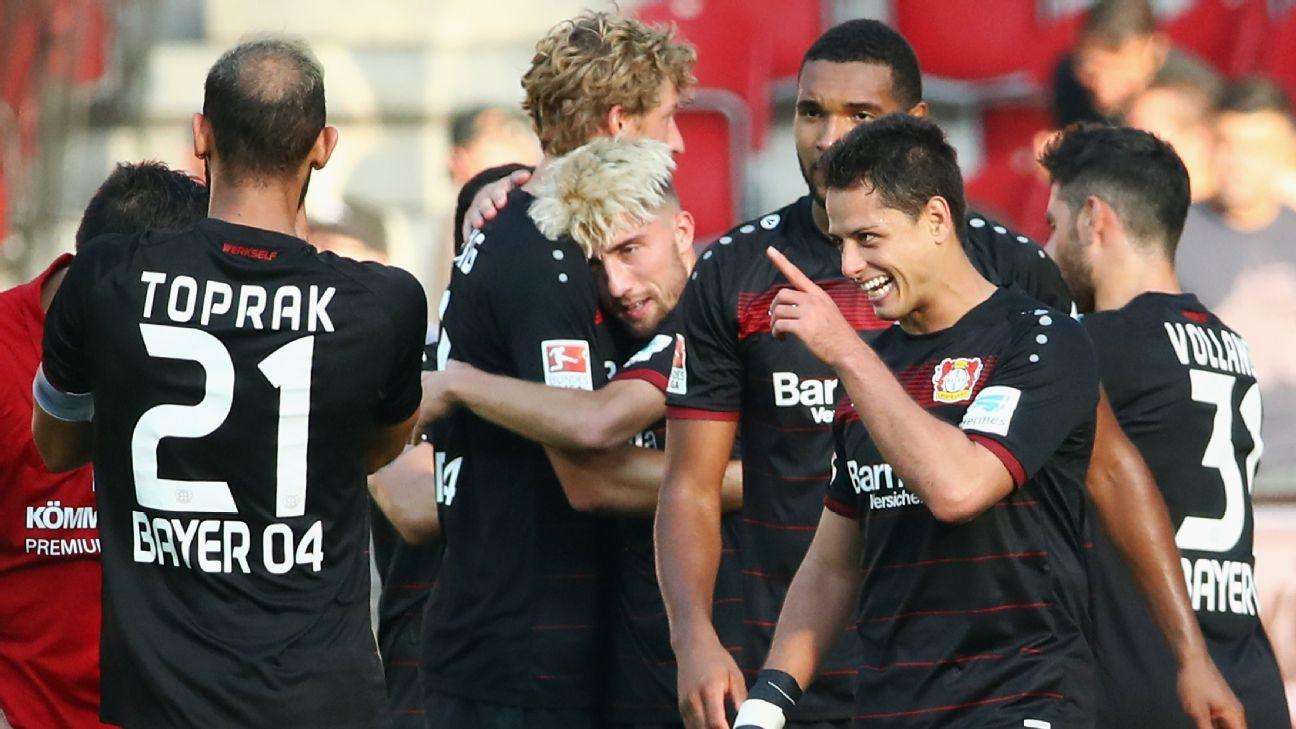 Bayer Leverkusen striker Javier Hernandez