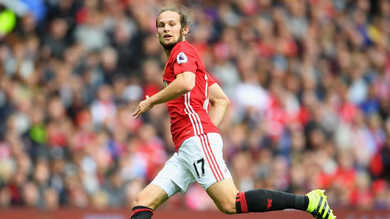 Daley Blind could edge ahead of Luke Shaw under Mourinho at United