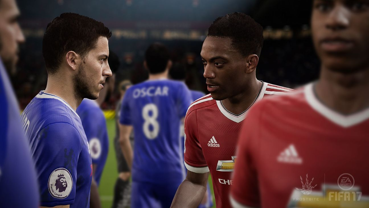 Eden Hazard and Anthony Martial in FIFA 17