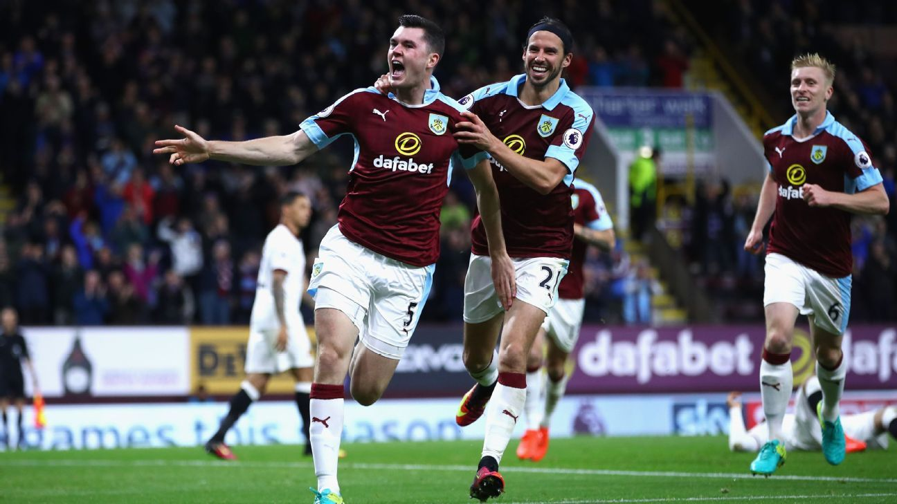 Michael Keane scored as Burnley controlled Watford in a 2-0 win.
