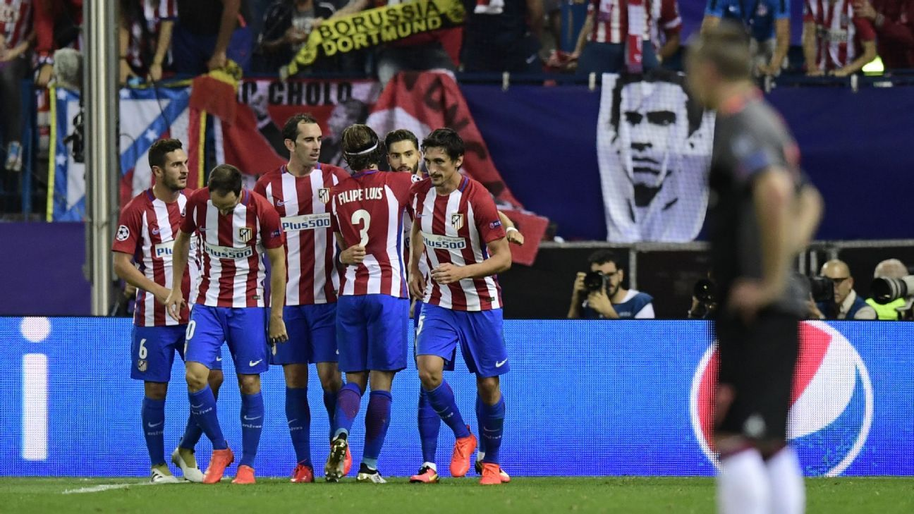 Atletico Madrid celebrated a deserved win at the Vicente Calderon on Wednesday.