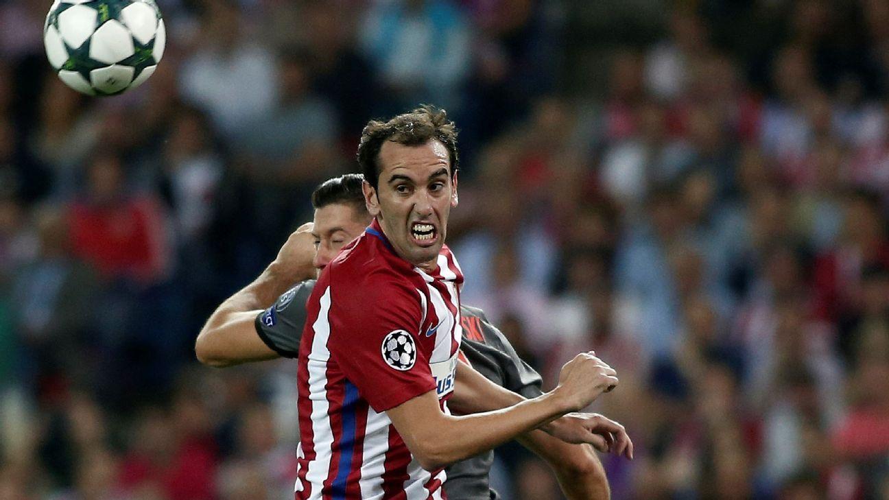 Atletcio Madrid's Diego Godin