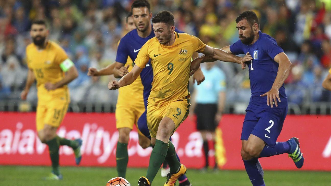 Australia striker Apostolos Giannou