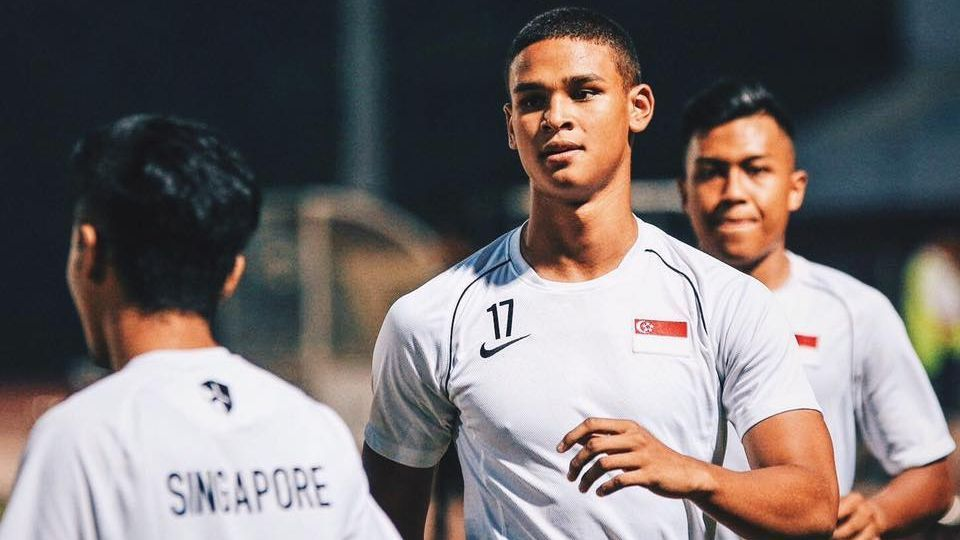 Singapore striker Irfan Fandi