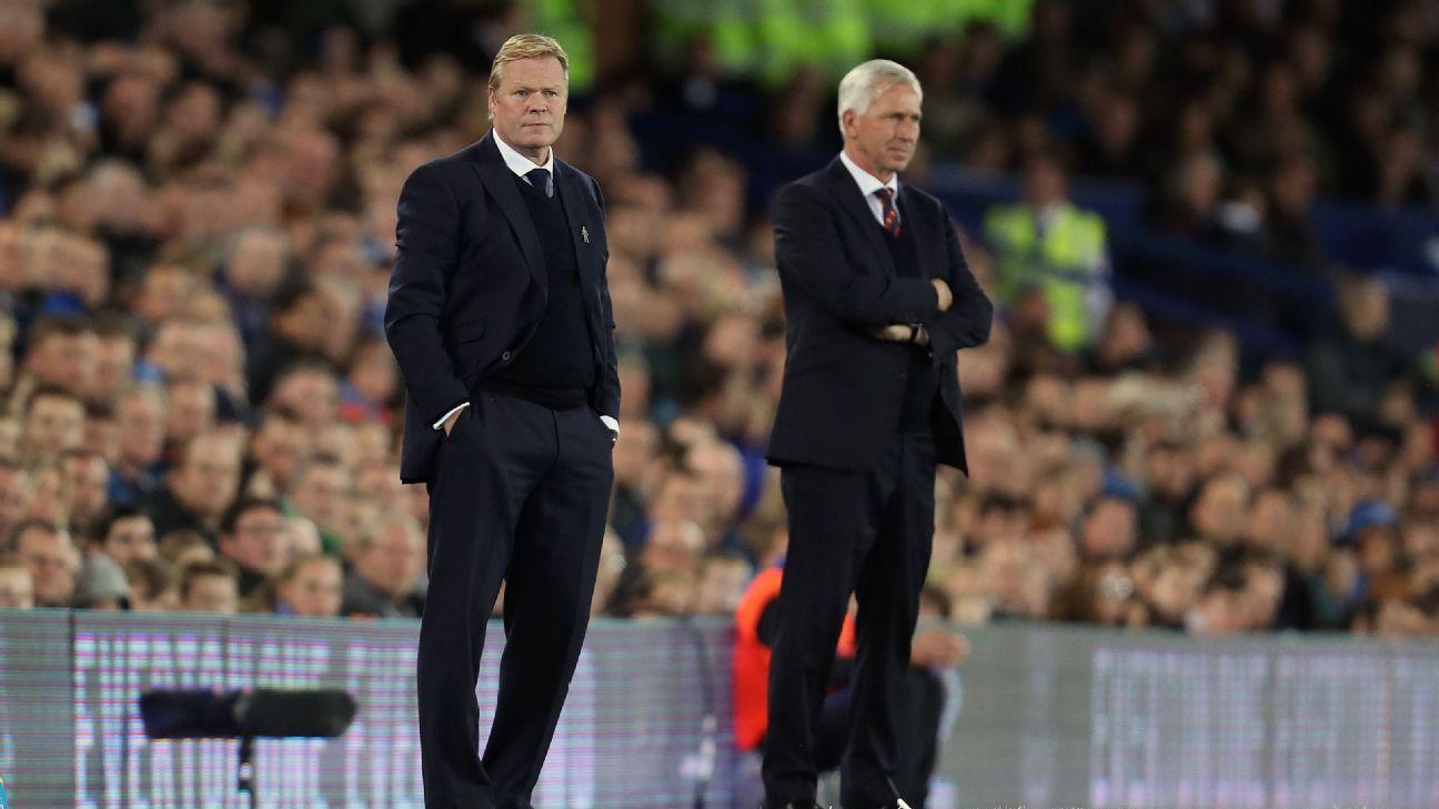 Pardew Koeman sidelines Everton Palace 160930