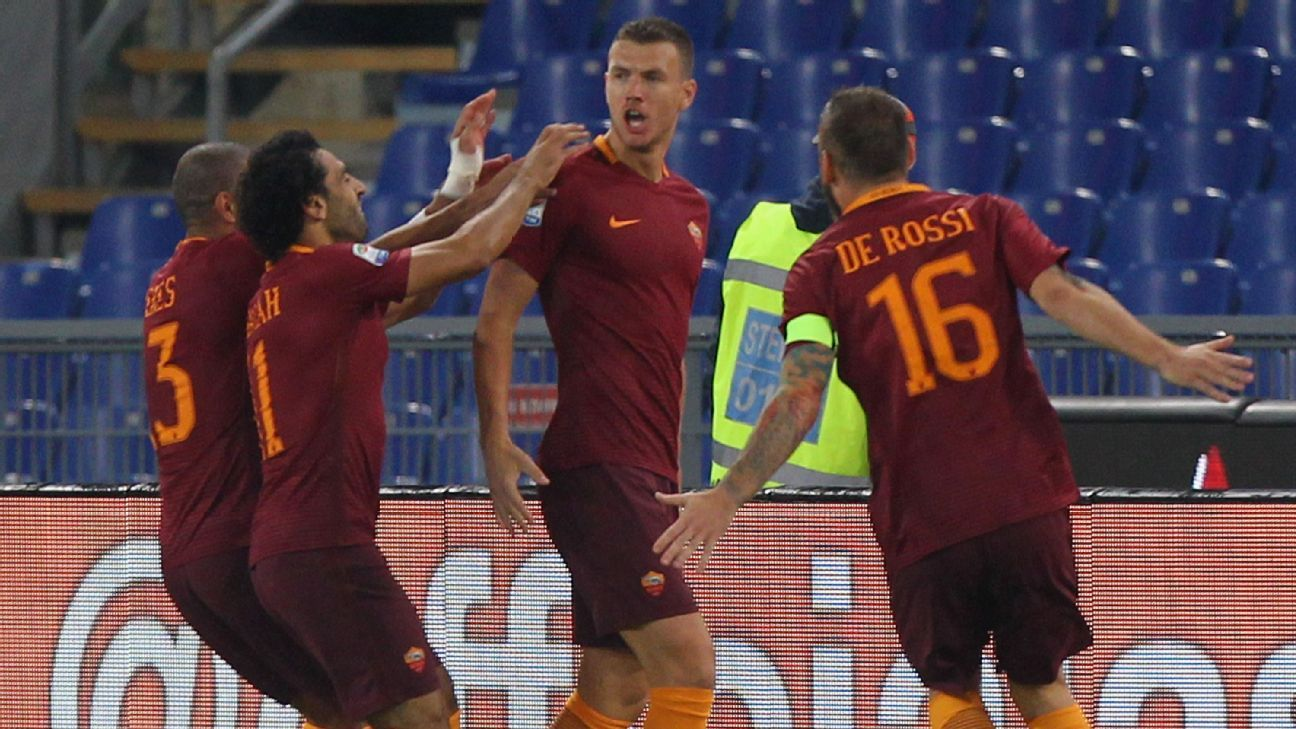 Edin Dzeko and Roma scored a big victory over Inter Milan on Sunday.