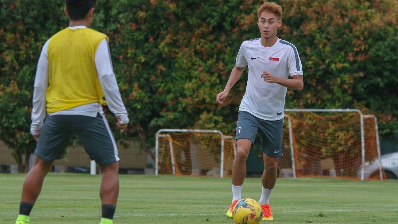 Singapore midfielder Gabriel Quak