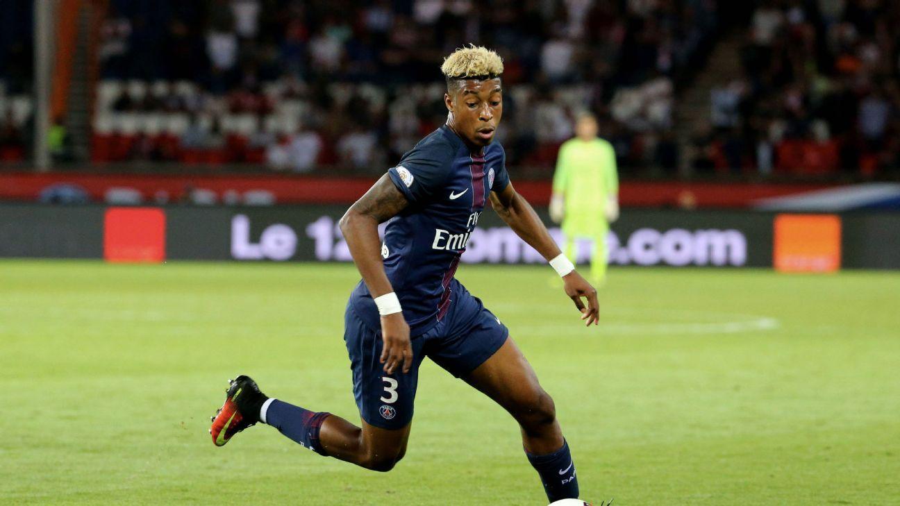 Presnel Kimpembe of Paris Saint-Germain in action during the French Ligue 1 match between Paris Saint-Germain and AS Saint-Etienne at Parc des Princes on September 9, 2016 in Paris, France.