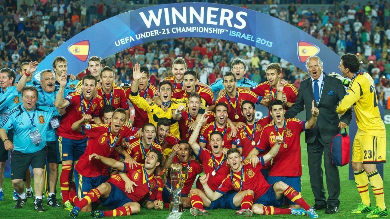 Spain celebrate U21 European Championship win
