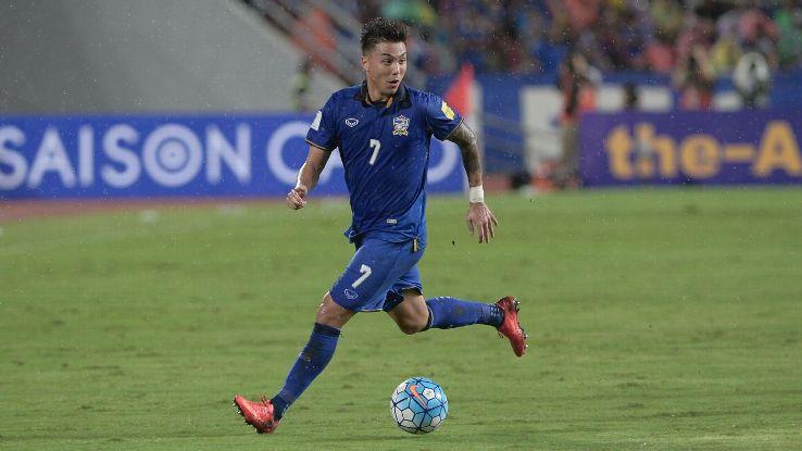 Thailand's Charyl Chappuis vs. Japan