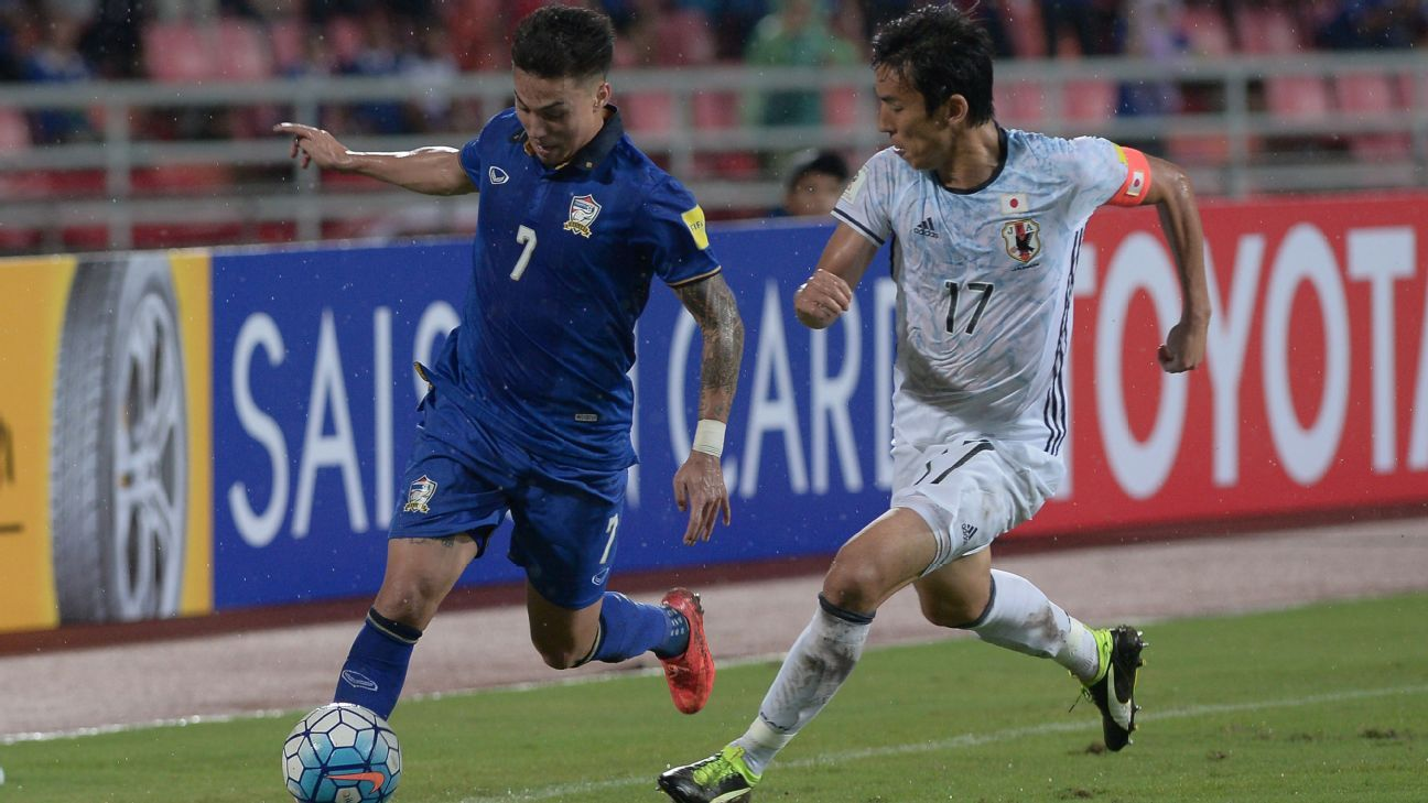 Thailand's Charyl Chappuis vs. Japan's Hasebe