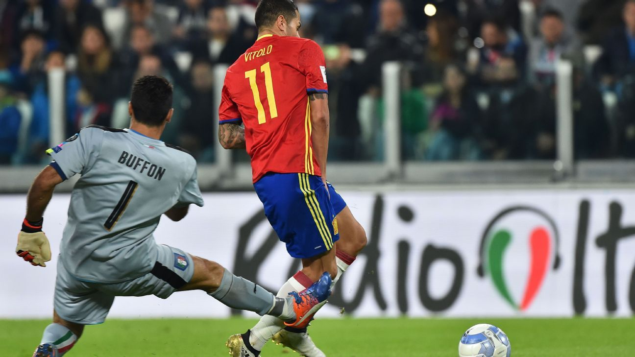 Vitolo capitalised on a Gianluigi Buffon gaffe to give Spain a lead.