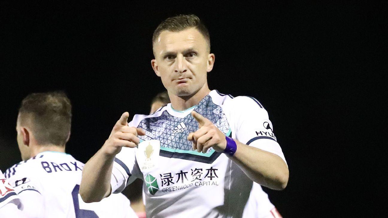 Melbourne Victory striker Besart Berisha