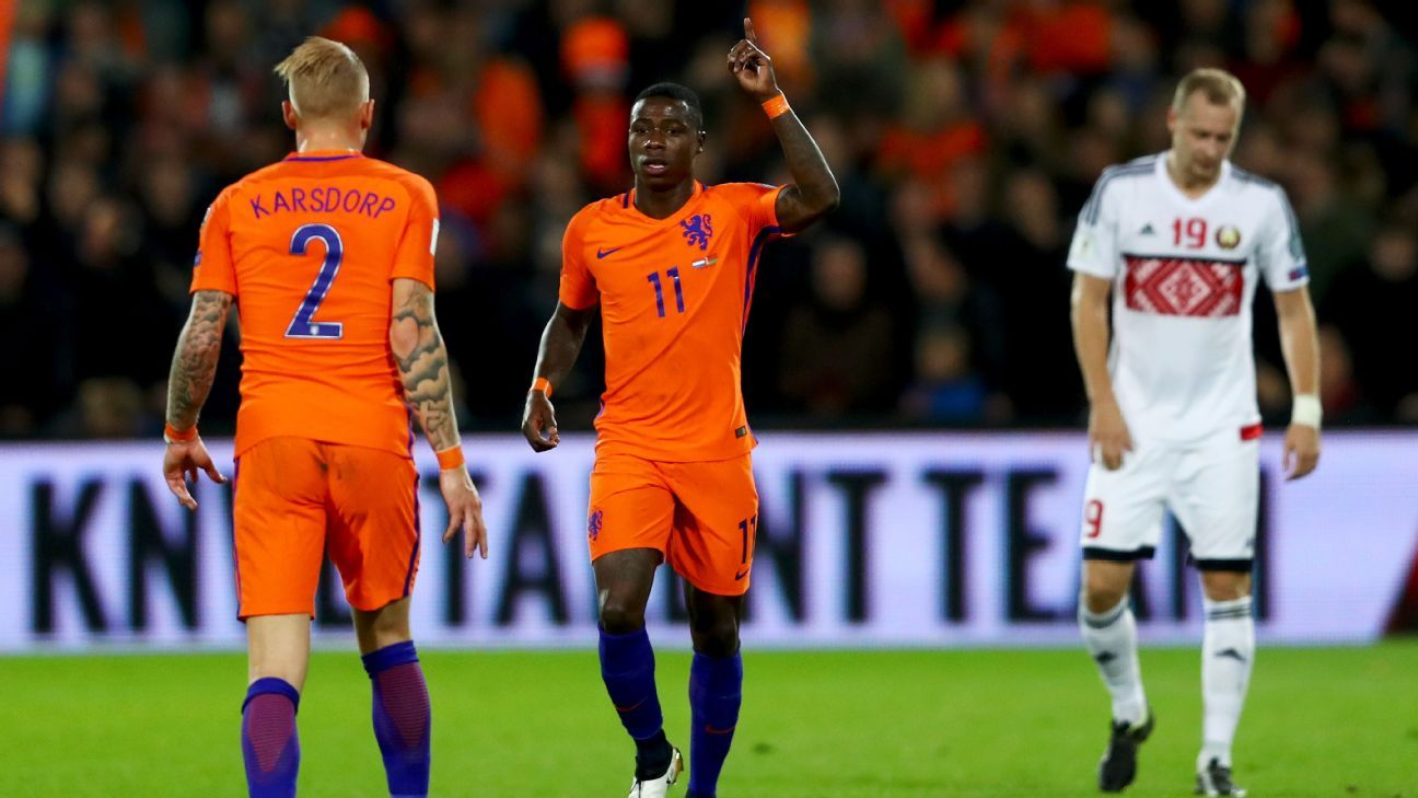 Quincy Promes' two goals was enough to put Netherlands in control.
