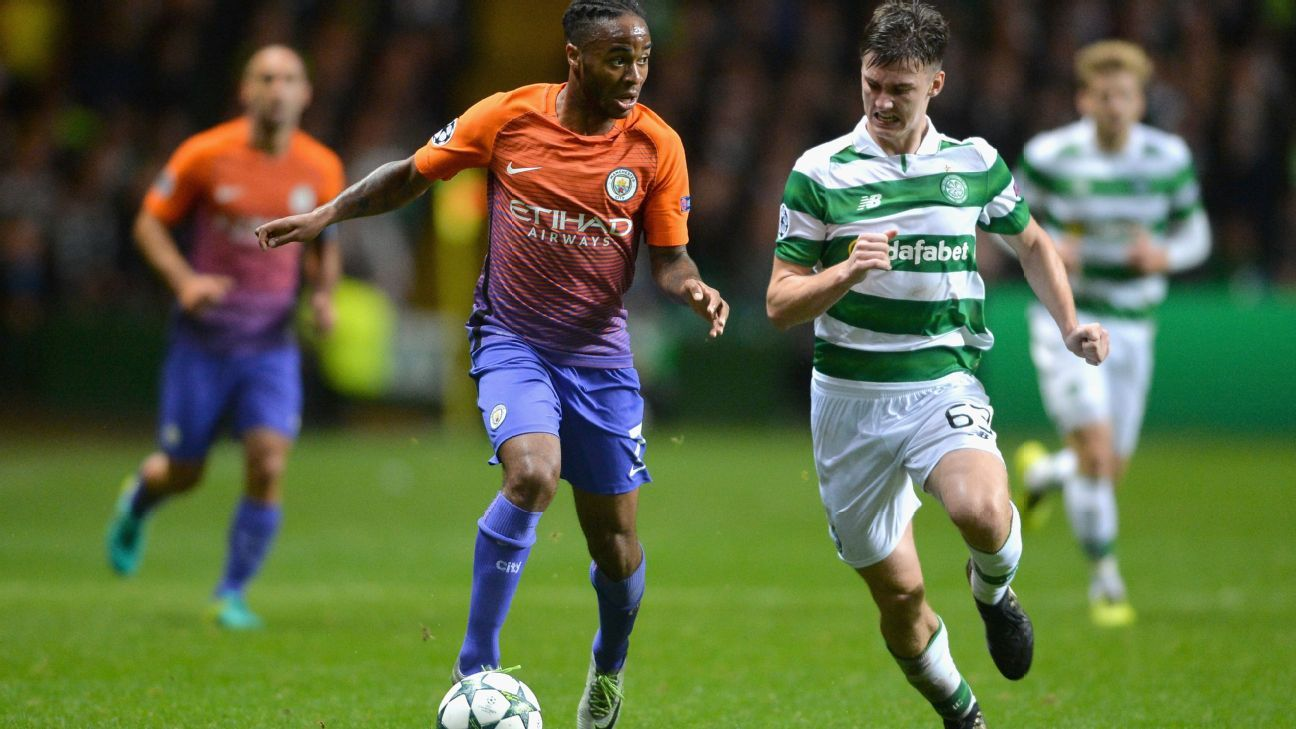 Kieran Tierney Celtic vs City