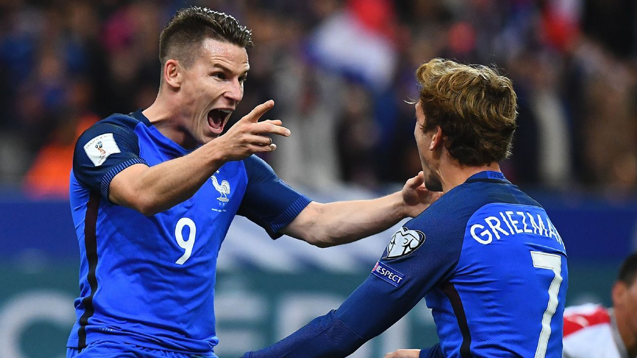 Kevin Gameiro led France to a convincing defeat of Bulgaria.
