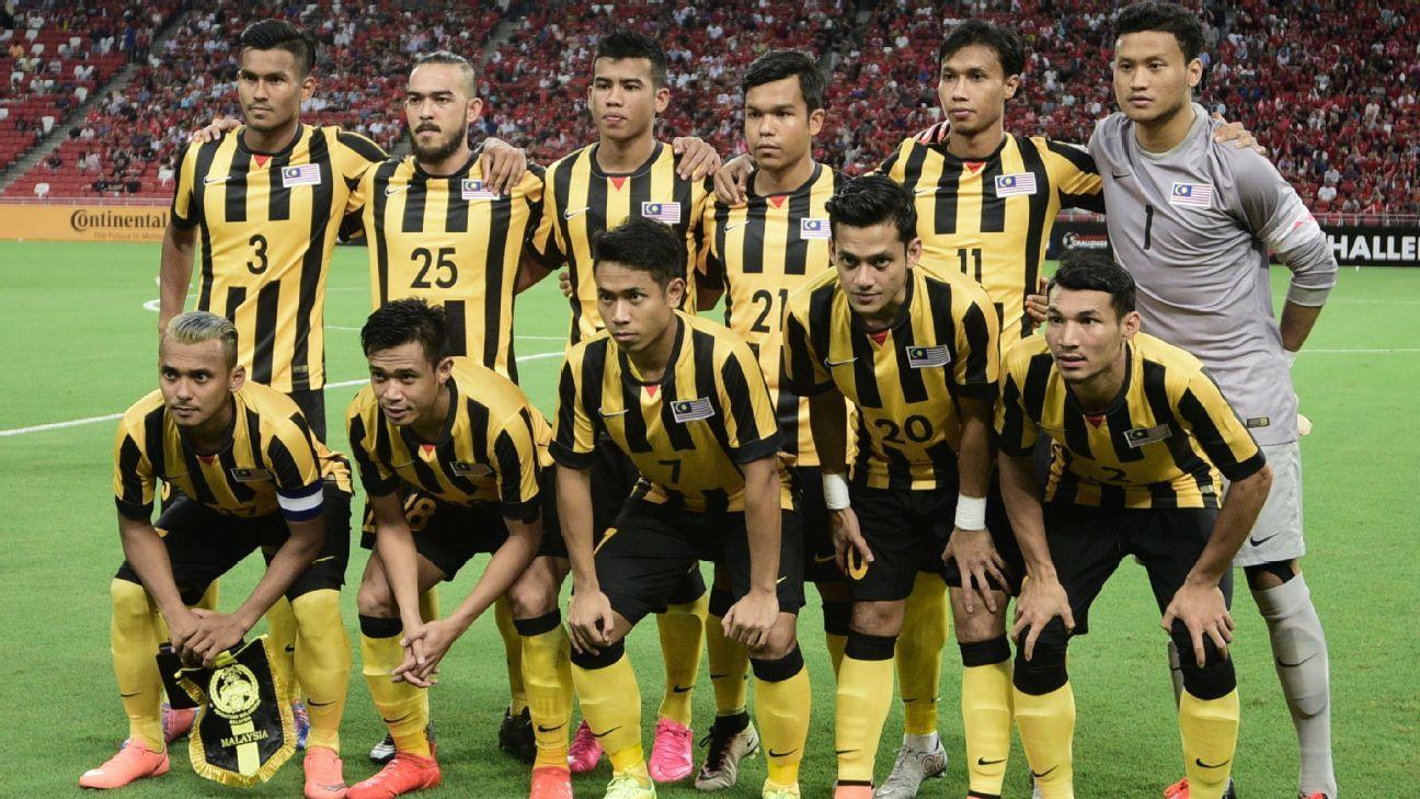 Malaysia starting team vs. Singapore