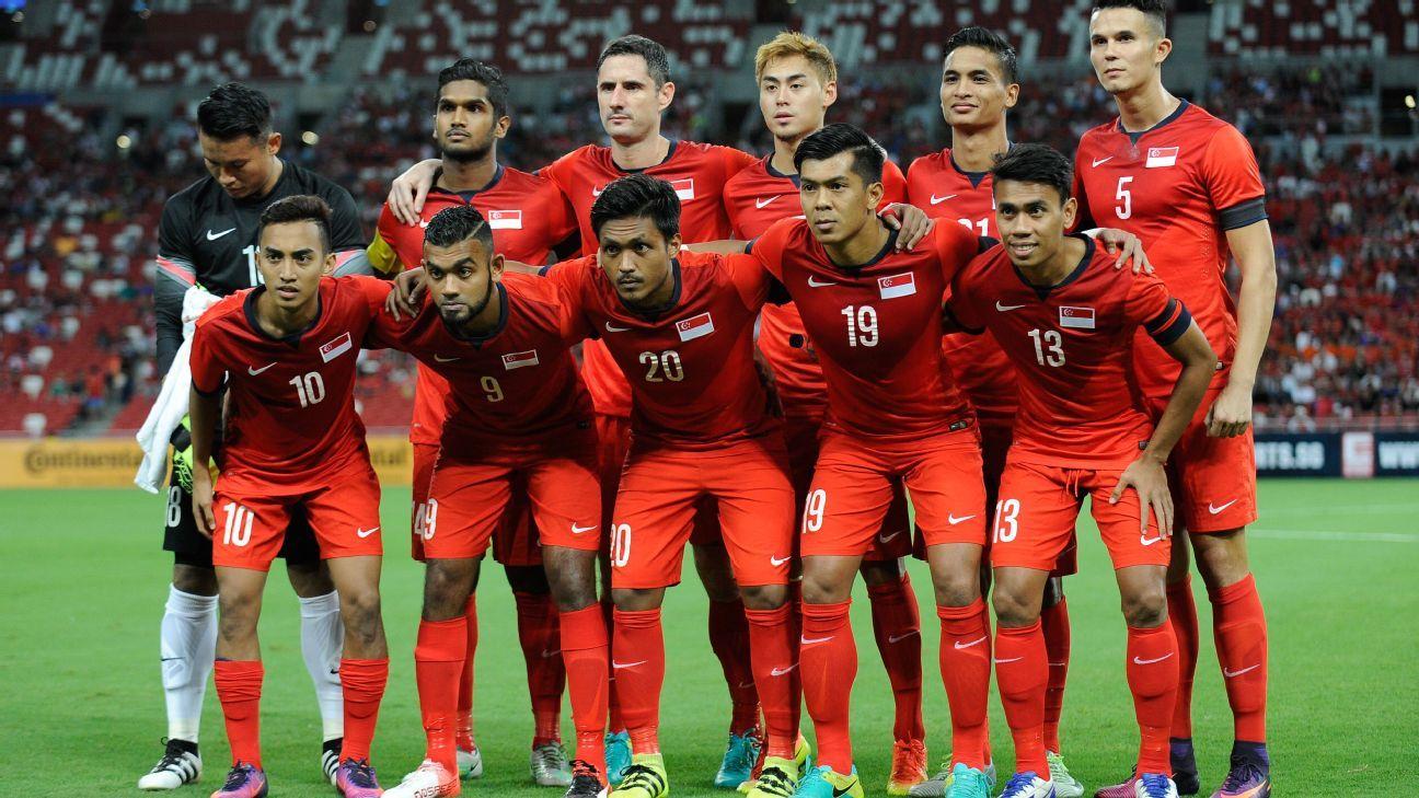 Singapore's team vs. Malaysia