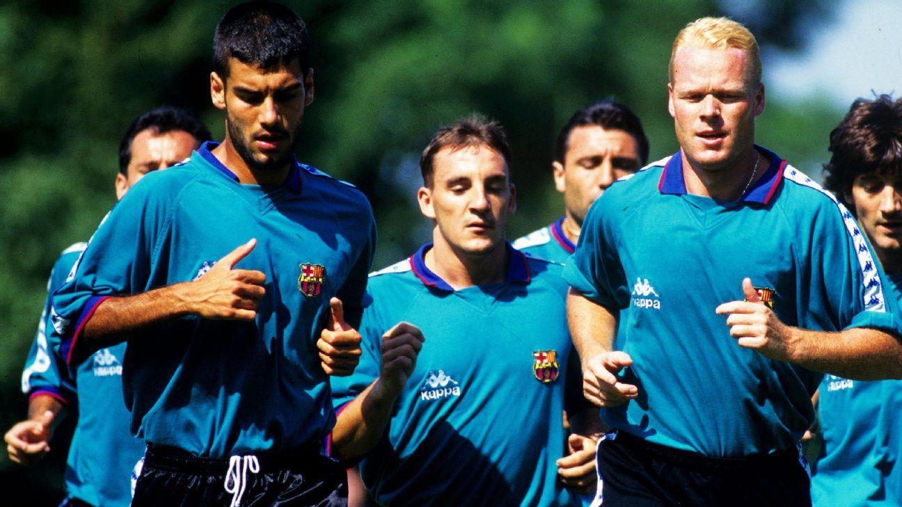Ronald Koeman Pep Guardiola Barcelona