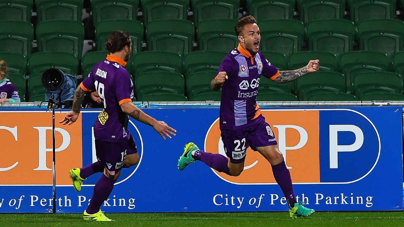 Perth Glory striker Adam Taggart