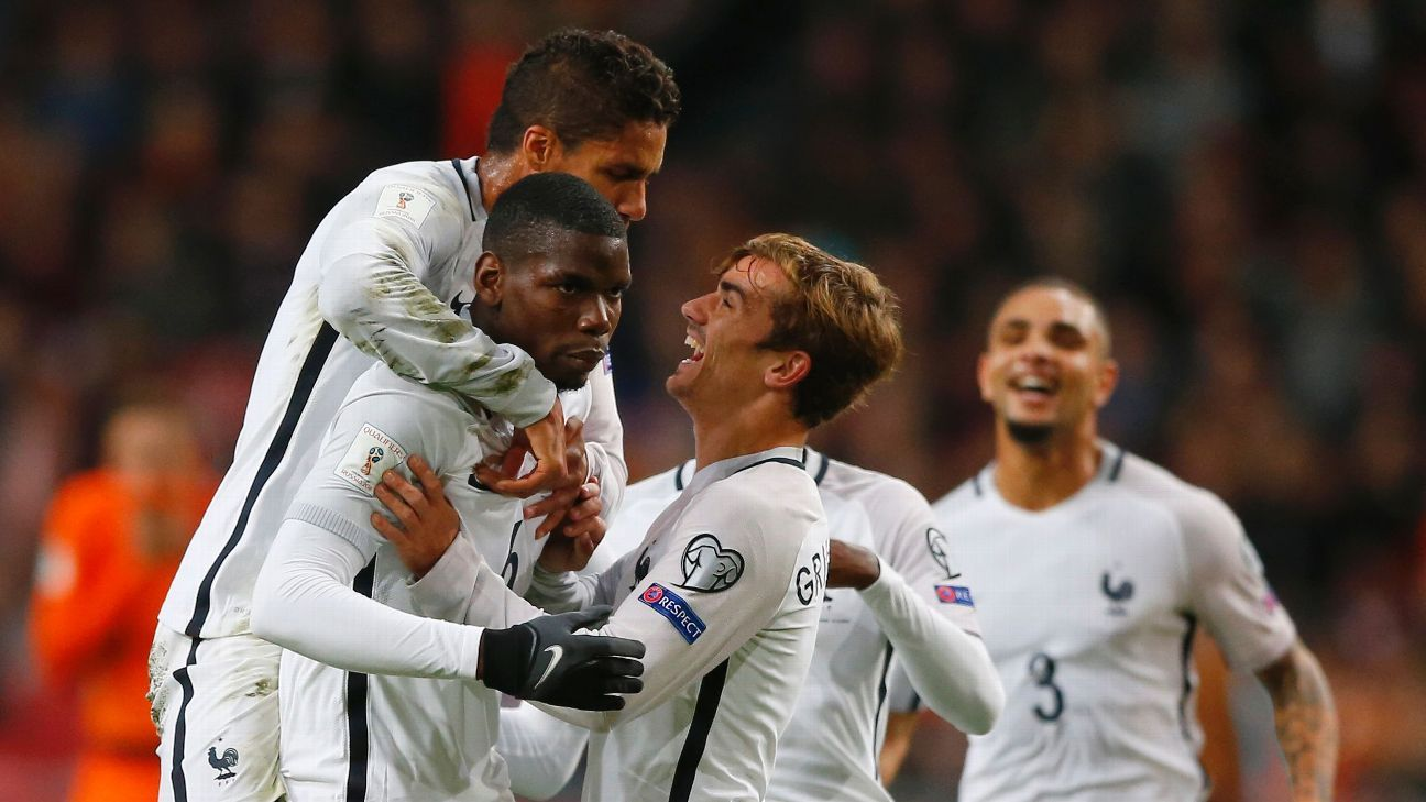 Paul Pogba's goal from 35 yards out fueled France against the Netherlands on Monday.