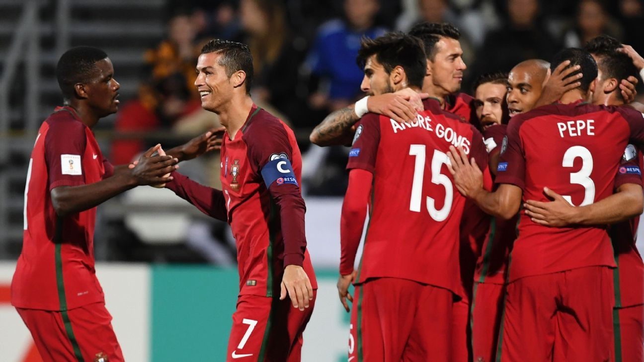 Portugal celebrated six goals in Monday's defeat of Faroe Islands.