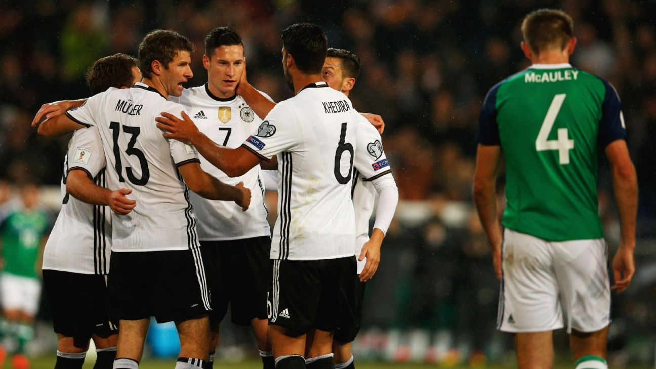 Julian Draxler's goal put Germany on their way to a win.