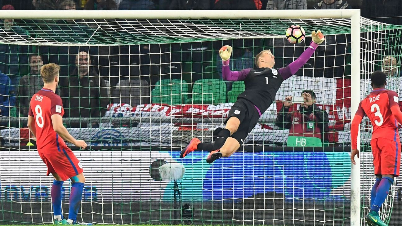 Joe Hart was in fine form as England claimed a draw at Slovenia.