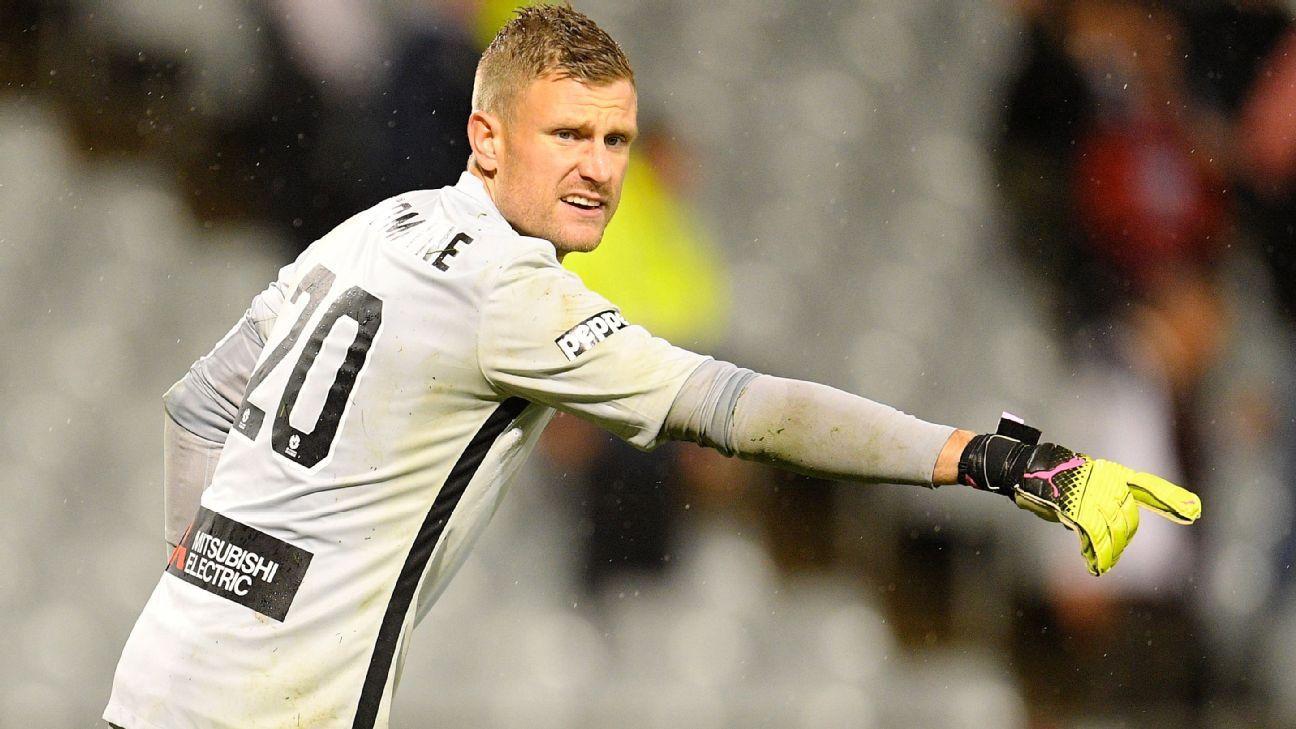 Western Sydney Wanderers goalkeeper Andrew Redmayne