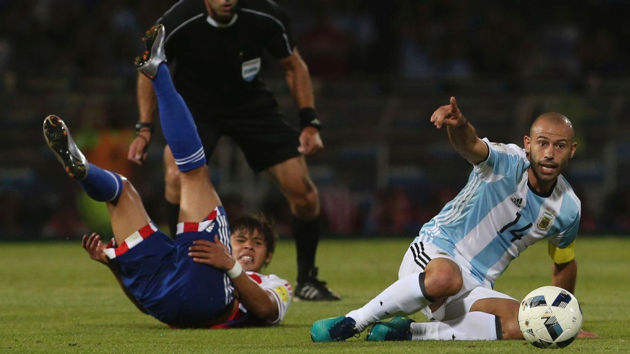 Argentina midfielder Javier Mascherano