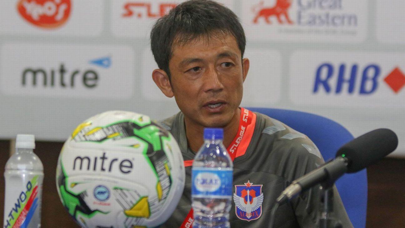 Albirex coach Naoki Naruo