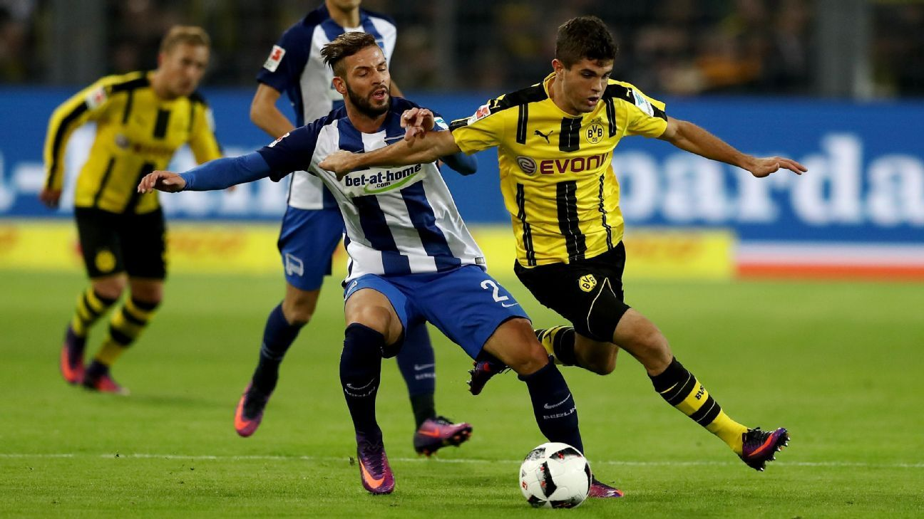 Dortmund battled back to secure a home draw against Hertha Berlin.