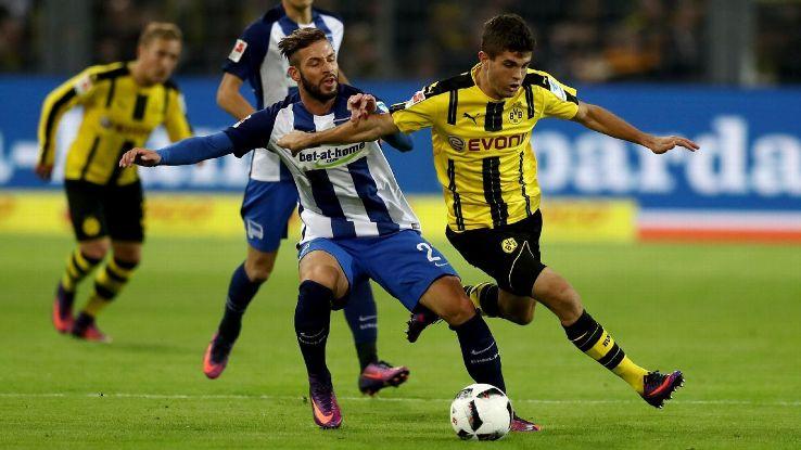 Dortmund battled back to secure a home draw against Hertha Berlin.
