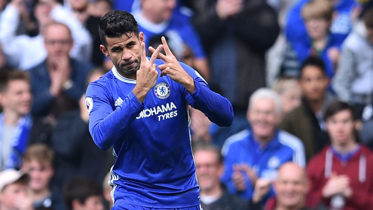 Diego Costa netted inside just seven minutes for Chelsea.