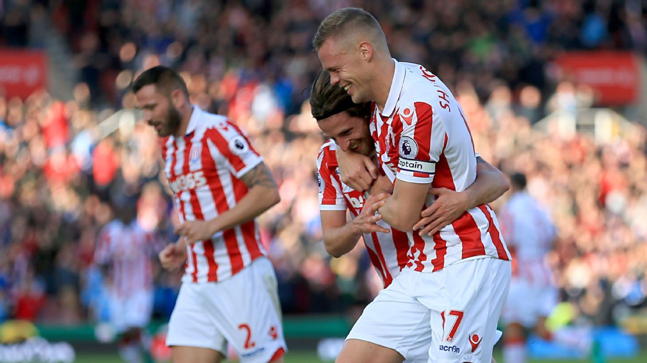 Joe Allen's goals were enough to give Stoke City a victory.