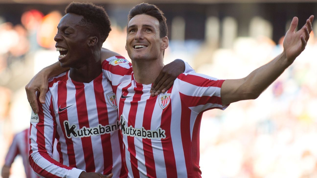 Athletic Bilbao celeb Inaki Williams and Aritz Aduriz