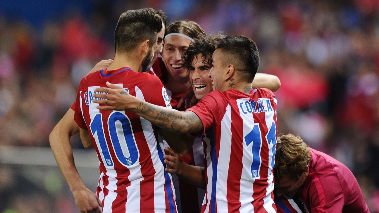 Atletico Madrid celebrates