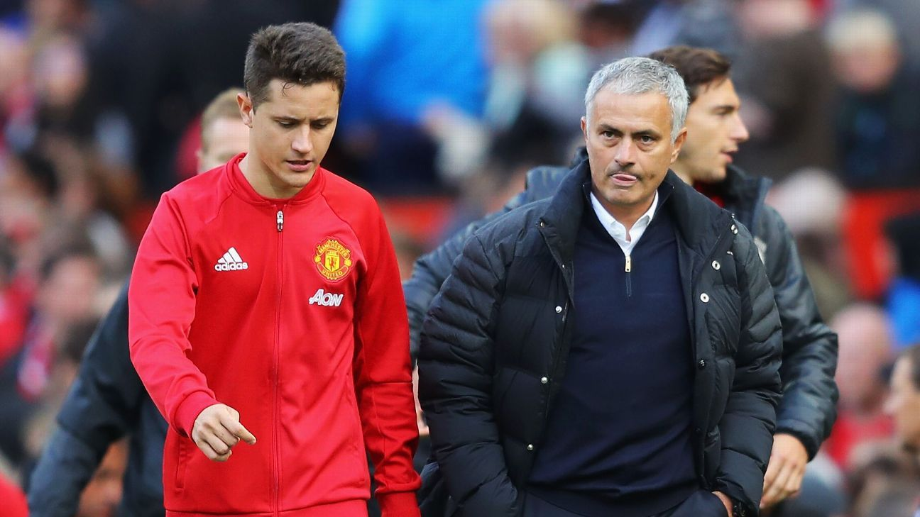 Jose Mourinho and Ander Herrera
