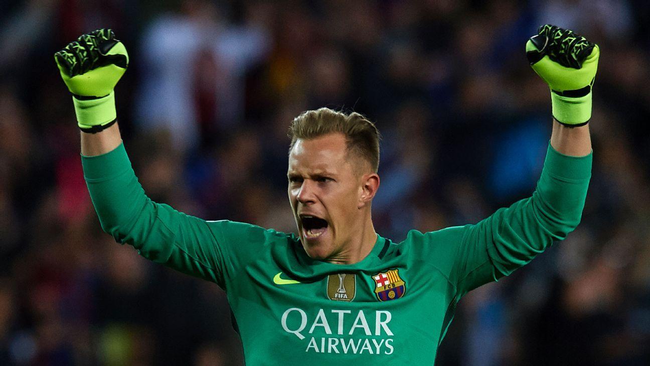 Barcelona goalkeeper Ter Stegen
