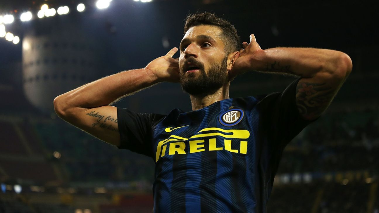 Antonio Candreva scored the winner for Inter Milan