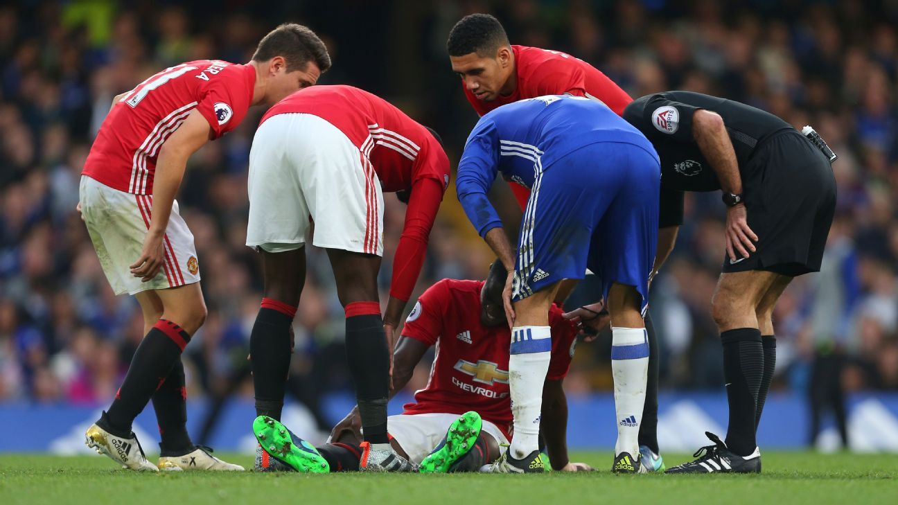 Image result for Eric Bailly aiming to return from knee injury for Man United in two months